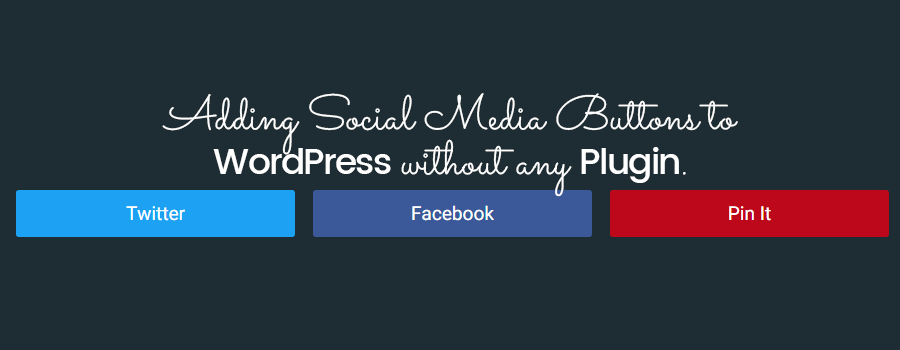 How to add follow us widget in wordpress?