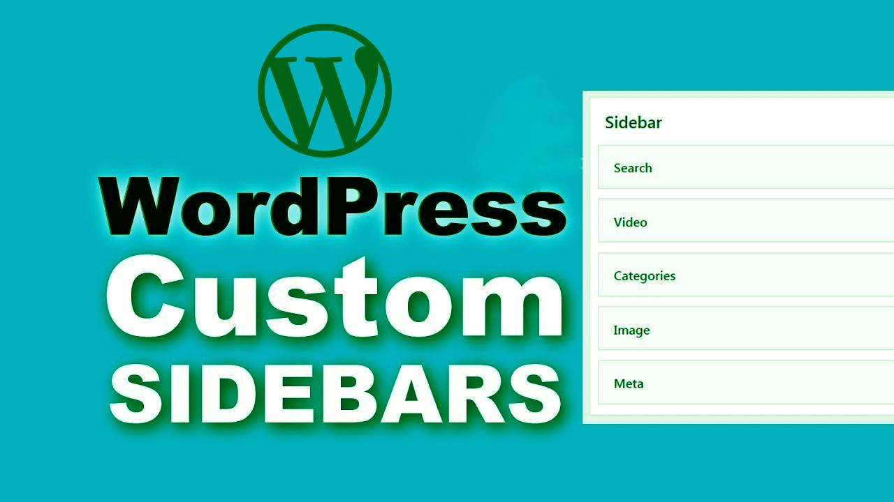 How to create sidebar in wordpress without plugin?