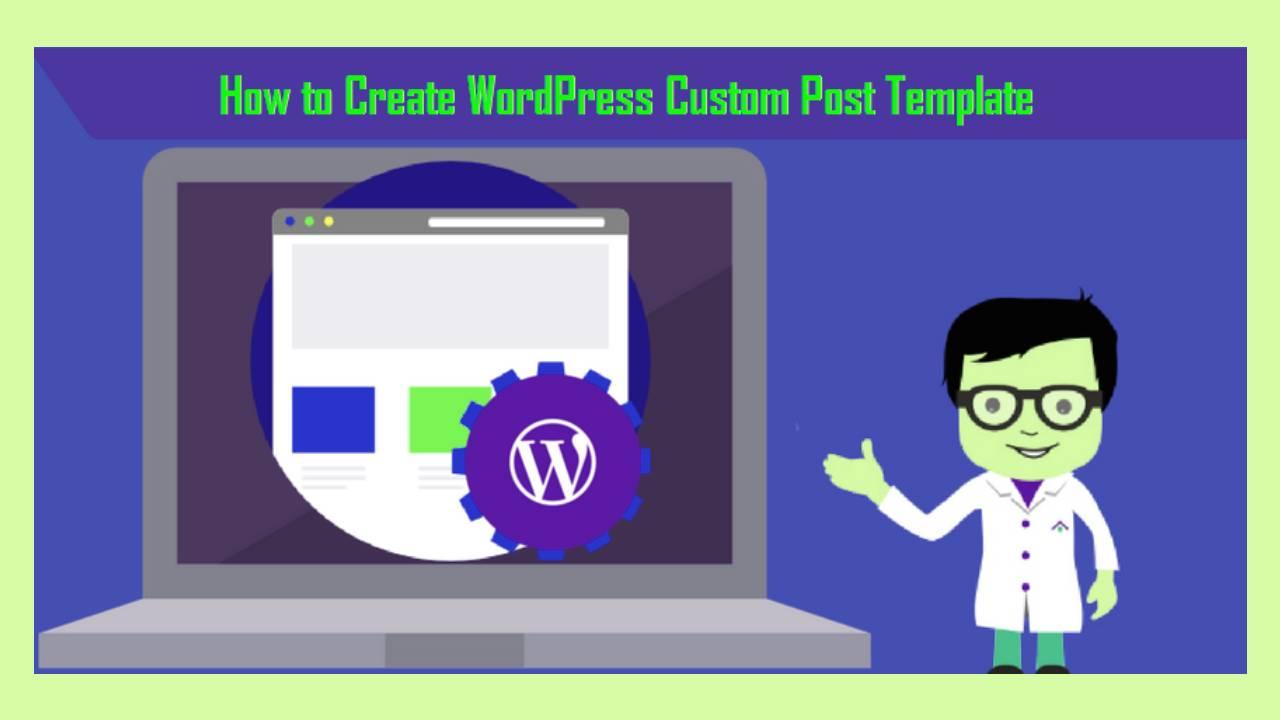 How to create custom post template in wordpress?