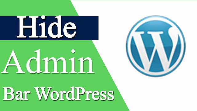 How to remove admin bar for non admin users in wordpress