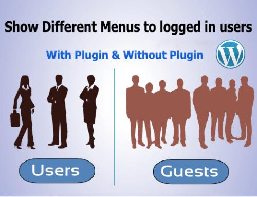 How to create menu for loggedin users in wordpress?