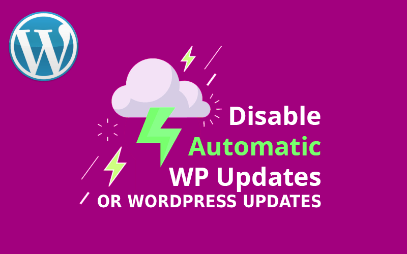How to stop automatic updates in wordpress?