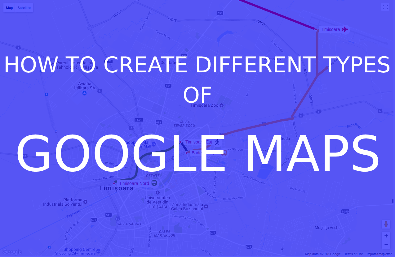 How to create google map in javascript?