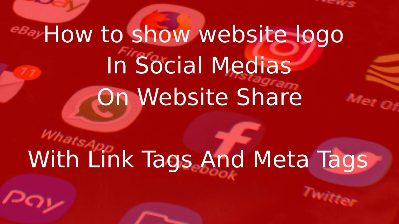 how to show website logo in facebook and whatsapp on share