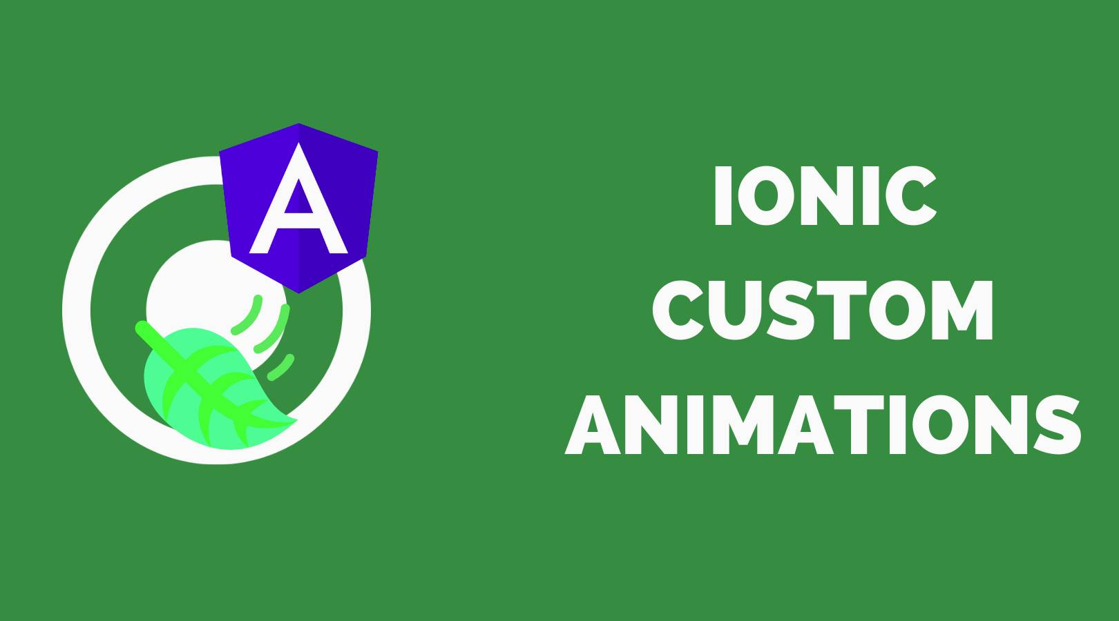 How to add animations in ionic application?