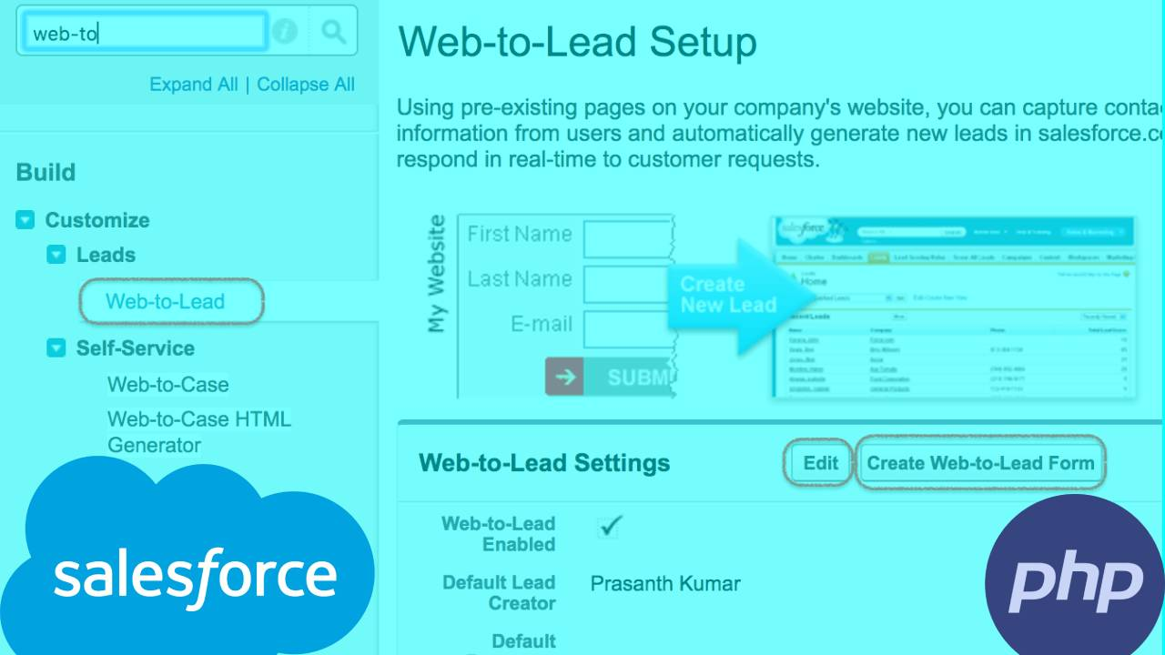 How to generate leads in Salesforce CRM using Laravel?