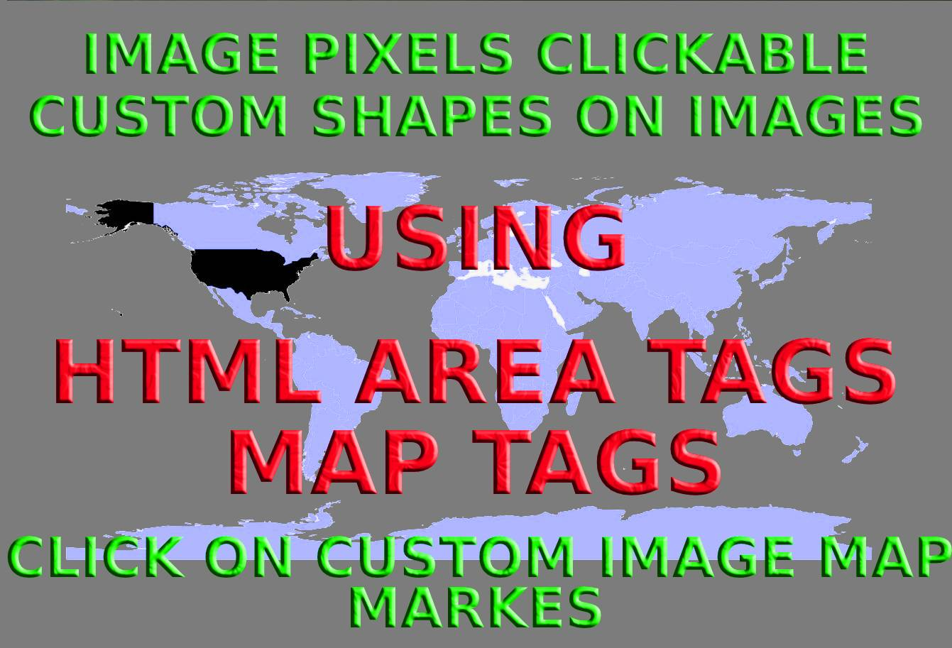 How to make images specific points clickable in HTML?