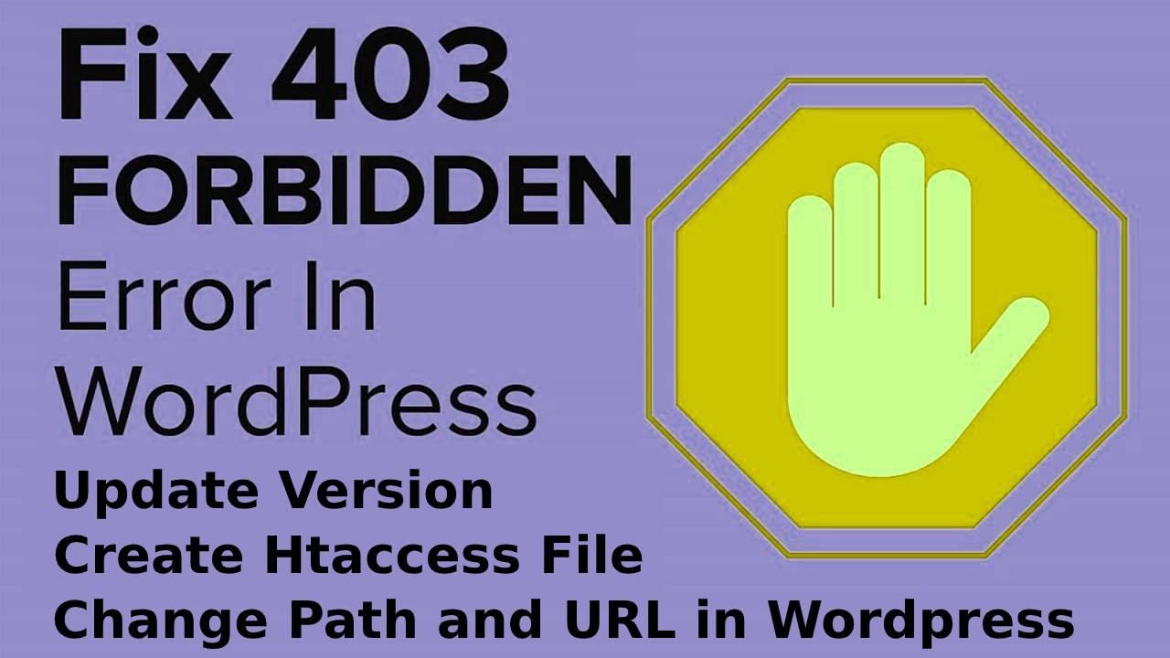 How to remove 403 forbidden in wordpress?