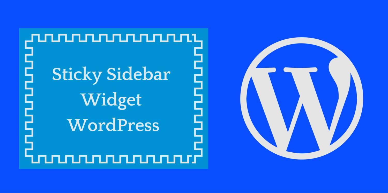 How to make wordpress sidebar widgets sticky?