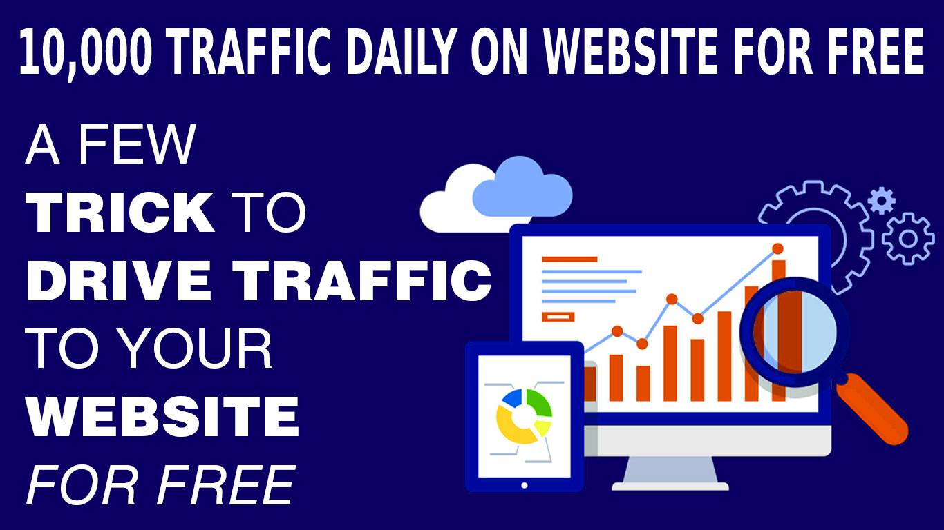 How to get 10000 visitors daily on website?