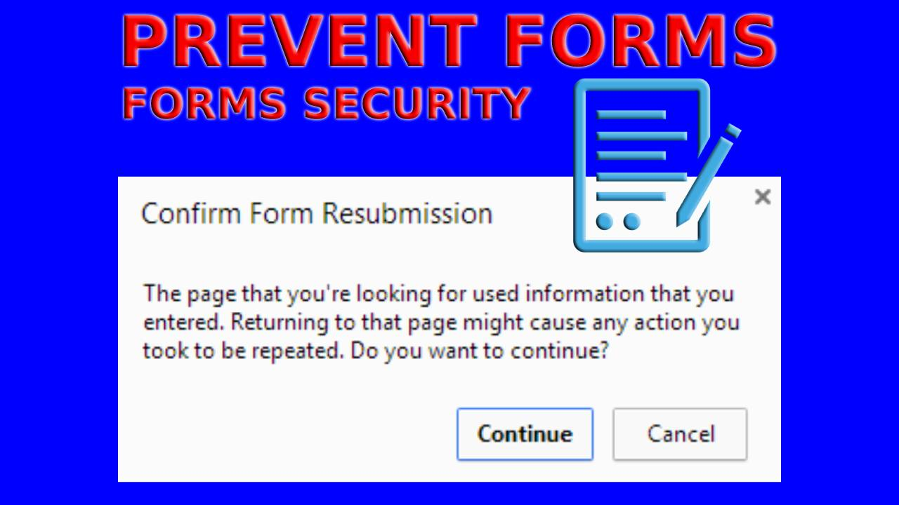 How to Stop Confirm Form Resubmission?