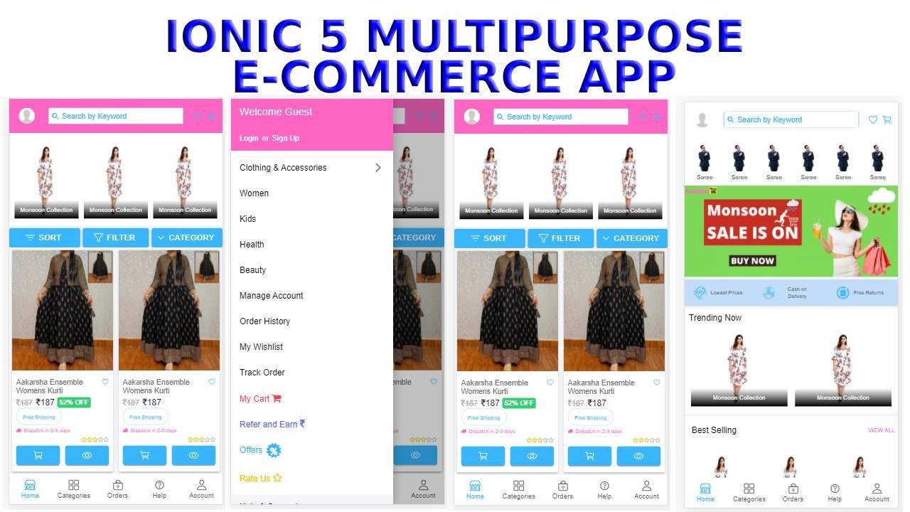 Ionic 5 E-Commerce Template